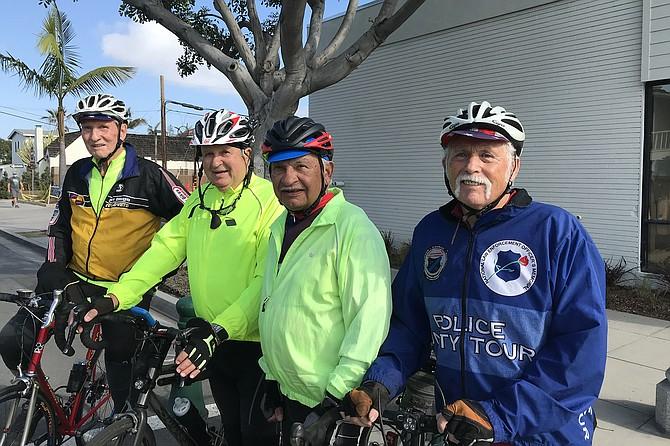 Da boyz: 17 miles still to pedal