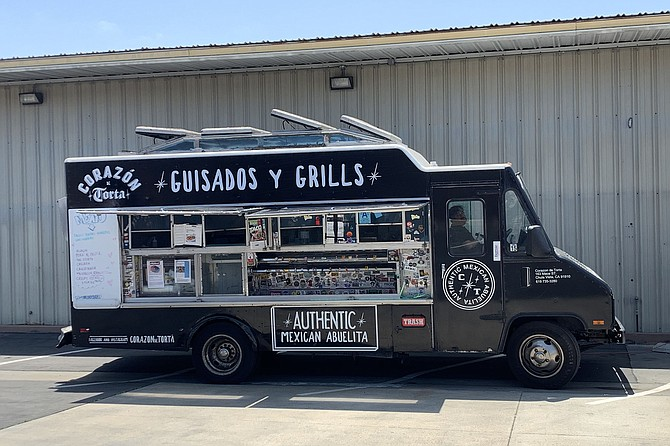 Corazon de Torta food truck, parked three days a week at Klover dispensary
