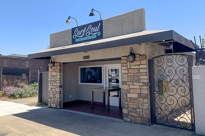 Surf & Soul Spot's new location on El Cajon Boulevard at the border of La Mesa