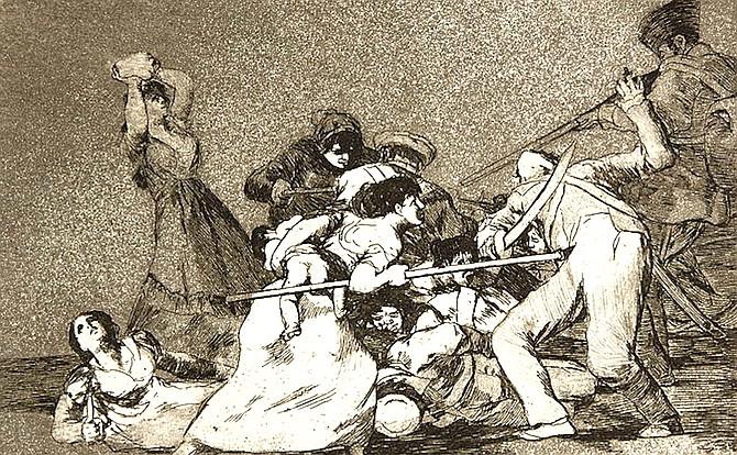 Disasters of War by Federico Goya, El Prado