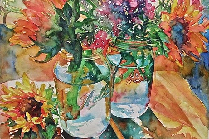 The San Diego Watercolor Society members present watermedia art available for online viewing and sale.