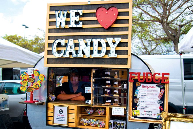 """""""This is a great farmer's market, it's affordable for me to sell my candy and the people are so nice,"""" said Albert Asmussen, the owner of Albie Candy Co."""