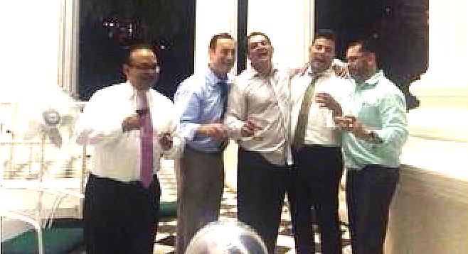 Photo of Sen. Ben Hueso and other state legislators before drunk driving arrest