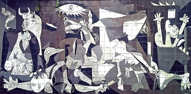 "Picasso's Guernica. The idea of trying to shock and disturb the public has become a paradigm of ""serious art."""