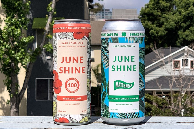 JuneShine products launched during the pandemic include 100 calorie and matcha kombuchas.