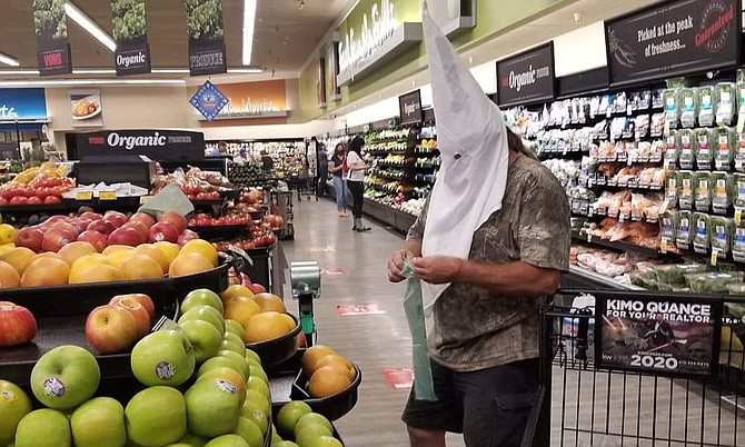 KKK hood inside Vons
