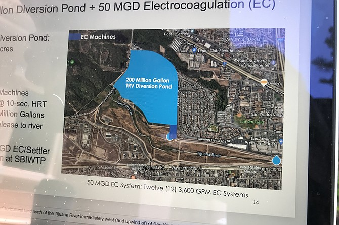 A big ask: Hendrickson's plans would need a diversion pond in San Ysidro