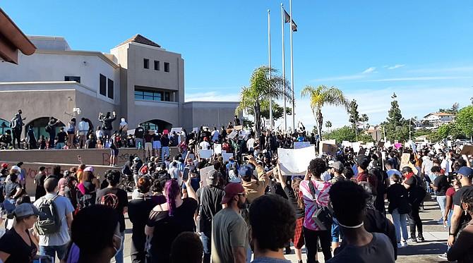 La Mesa police station on Saturday