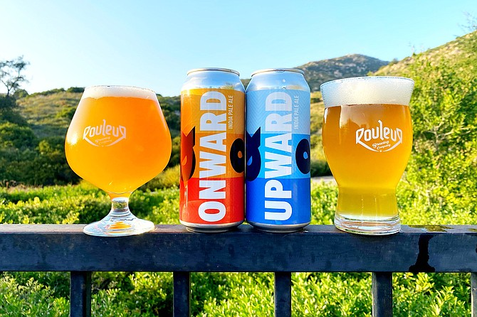 Planned to celebrate a new brewery lease, Rouleur released Onward and Upward as twists on its most popular beers. Onward is Dopeur IPA with Endo IPA's dry hop additions, Upward is Endo with Dopeur's dry hops.
