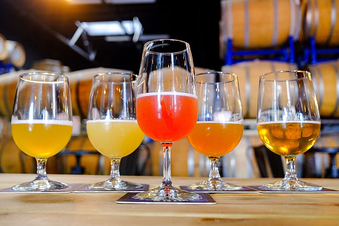 Don't expect to order tasting flights while breweries operate under covid restrictions.