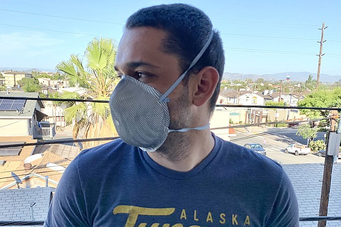Ed opts for functionality with his ultra protective mask.