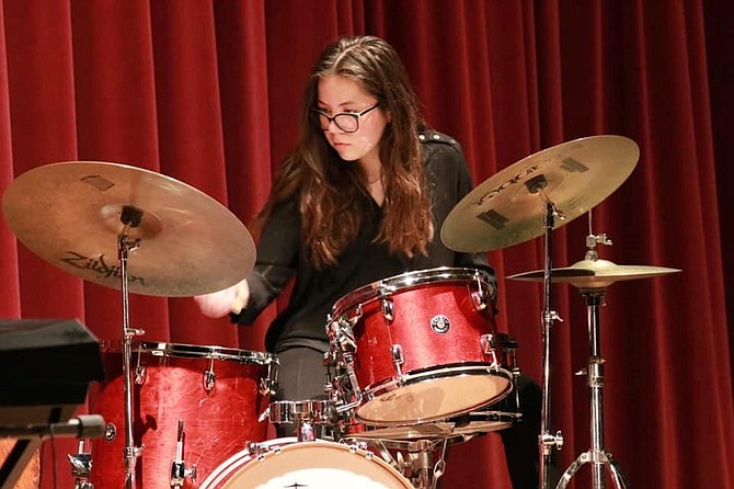 """""""I really want to go to school in New York,"""" says local jazz drummer Carmen Murray."""