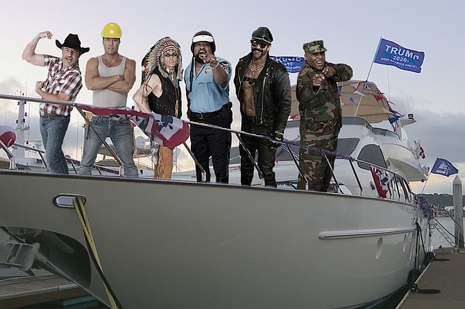Make America Gay Again? The Village People get ready to ship out for the recent Republican Regatta.