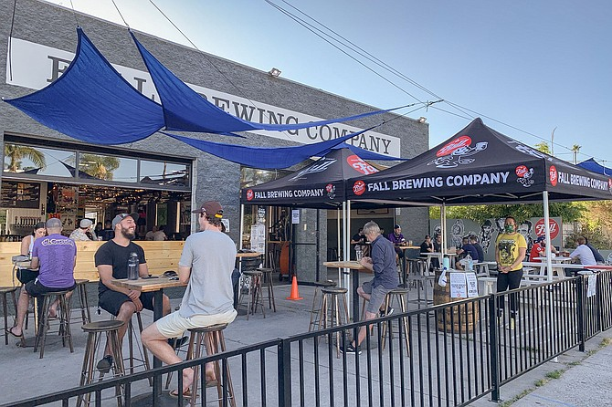 Fall Brewing's so called Punk Rock Patio gives the brewery an outdoor venue this summer, thanks to regulatory relief from the ABC.