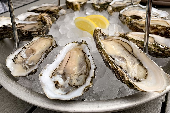 Oysters for a dollar apiece during Monday happy hour at Fort Oak