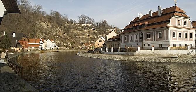 View northwest along the Moldau
