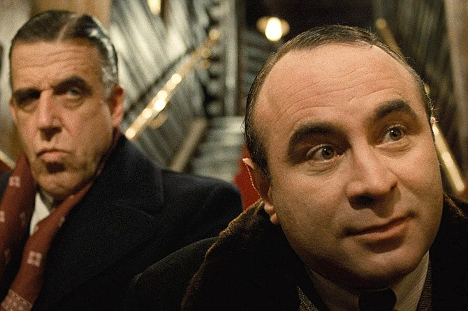 The Cotton Club: Fred Gwynne and Bob Hoskins share a moment.