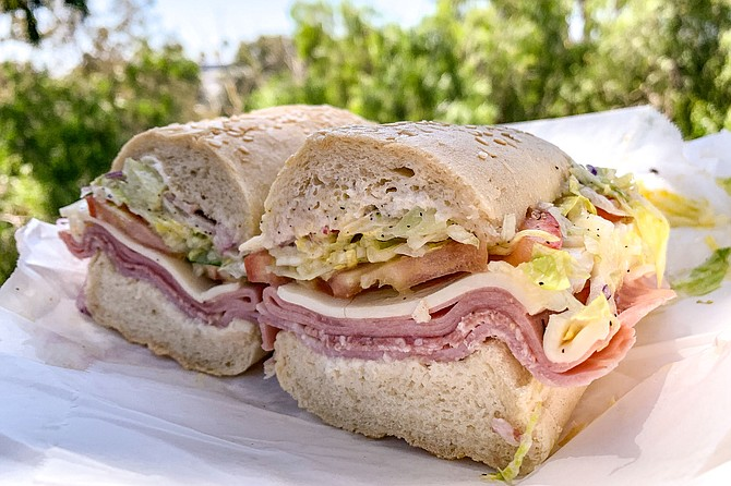 """The """"deluxe"""" Italian sub, served in the deli at Mona Lisa Italian Foods"""
