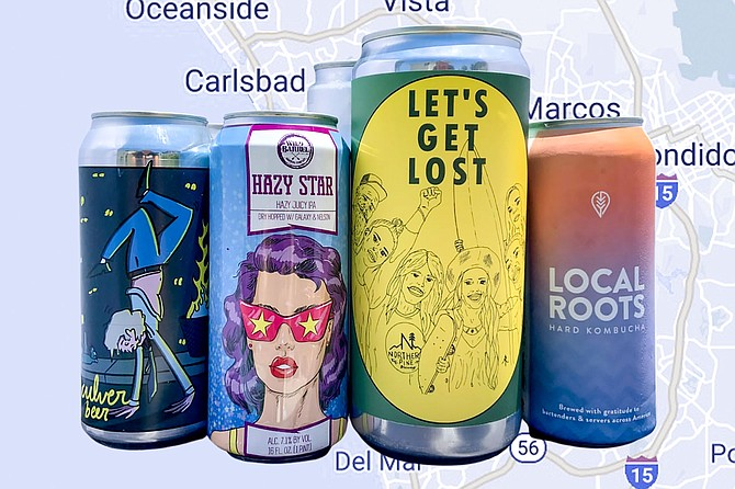 A selection of beers delivered throughout North County via Brew Catalog