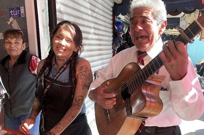 Salvador sings of love to Jazmin.