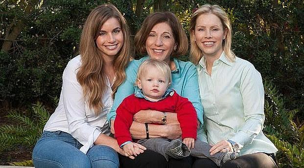 Barbara Bry with daughters Rachel Kruer and Sarah Kruer Jager