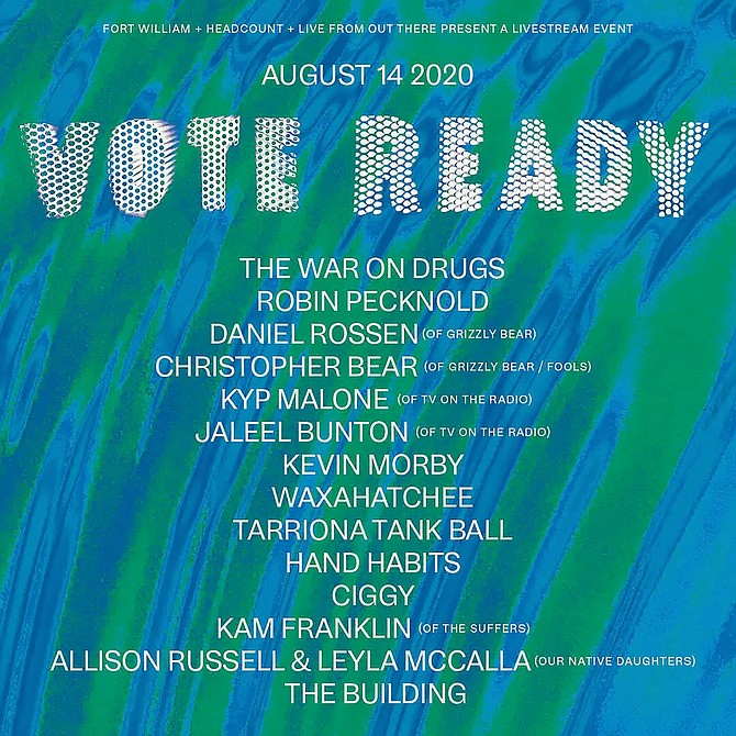 The VOTE READY LIVE Festival stream will be on Friday August 14th starting at 7pm ET.