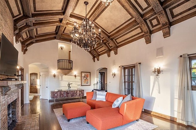 Who wouldn't empty their coffers for a timeless coffered ceiling?