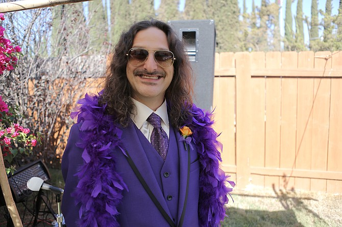Nobody rocks purple like Jefferson Jay.