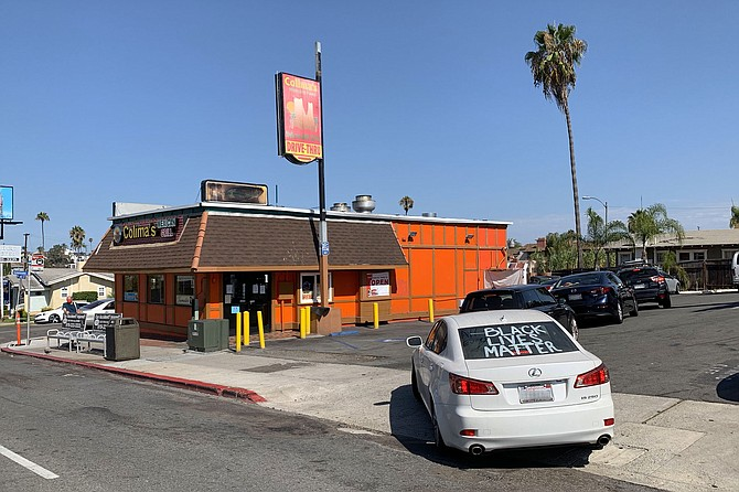 On a Saturday morning, the line of the Colima's drive-thru reaches University Avenue.
