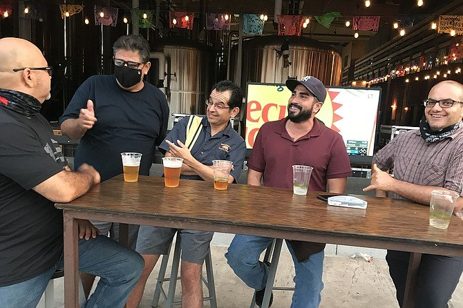 The guyz: NASSCO shipbuilders including Juan, Martin, Fernando and Amin.