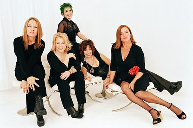 The Go-Gos rock that middle-aged punk look.