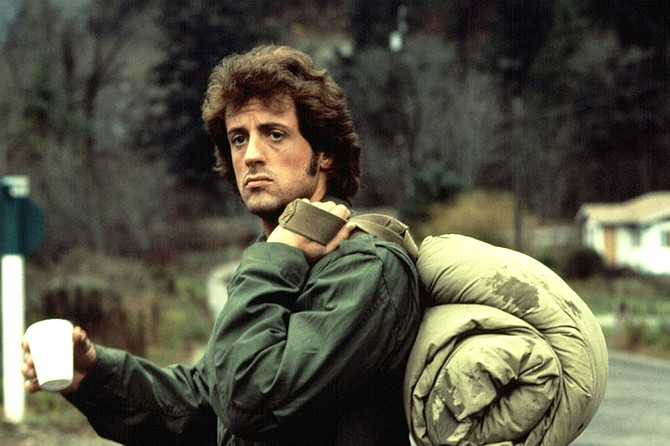 First Blood: John Rambo draws second blood in First Blood.