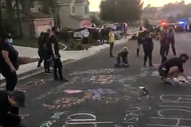 BLM protesters leave their mark in Poway.