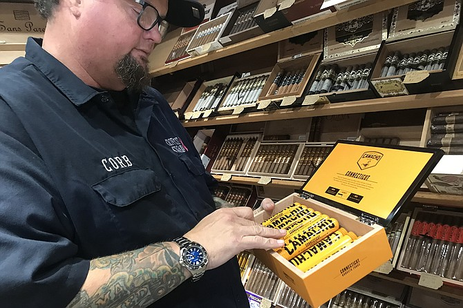Corb of the cigar shop says Covid hasn't slowed sales.