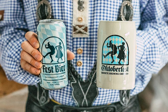 Societe's seasonal Fest Bier is being released in cans for the first time this year, with or without a take home stein.