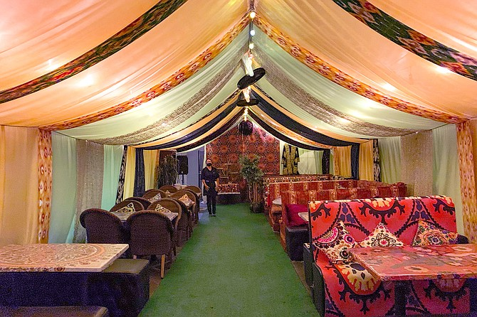 Inside the tent, a glimpse of the traditional, old Uzbek lifestyle