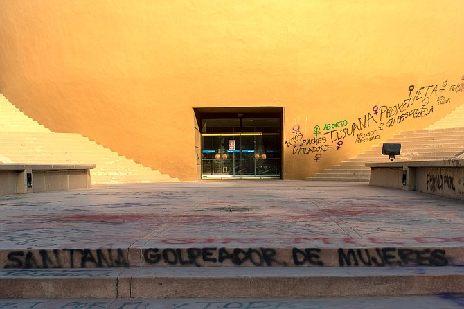 The Tijuana Cultural Center, one of the oldest and most iconic structures in the city