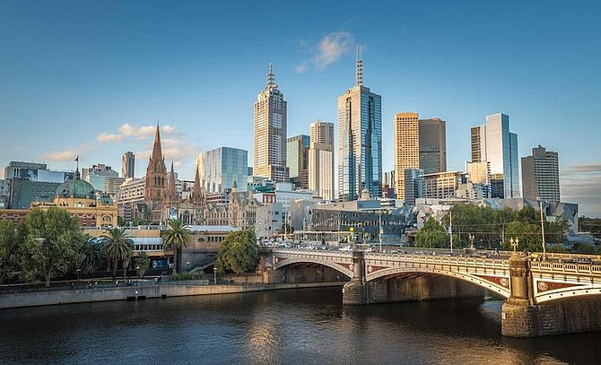 View of Melbourne's downtown from above the Yarra River. (Photo credit: NationalGeographic.com)