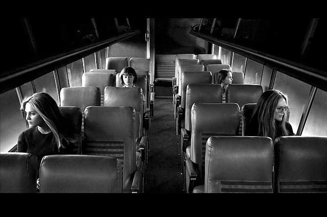 The Glorias: Alicia Vikander, Lulu Wilson, Ryan Kiera Armstrong, and Julianne Moore.
