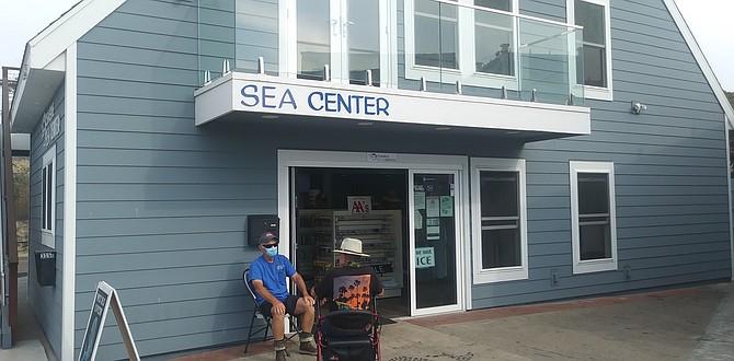 Joe Cacciola in front of Sea Center