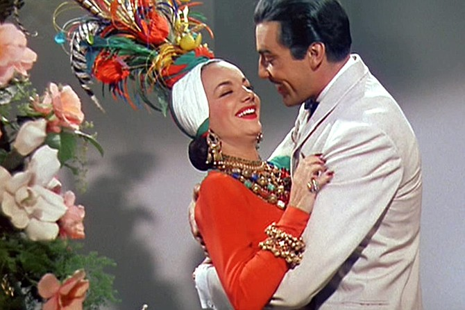 Week-End in Havana: Carmen Miranda, 1941's answer to Sofia Vergara, and a prematurely black Cesar Romero take a turn.