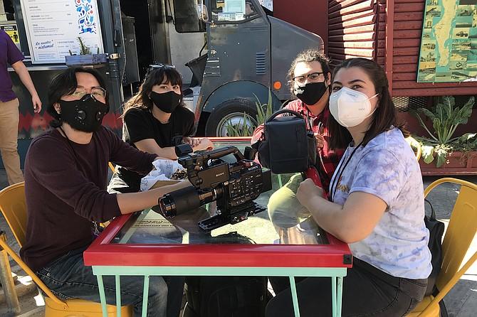 The filmmakers: Fausto, Erika, Oliver, Hosanna