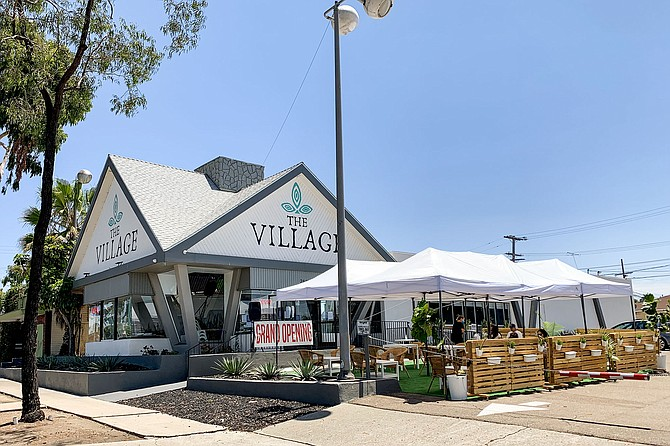 The Village keeps this gabled diner in North Park vegan, focusing on sushi and Mexican food.