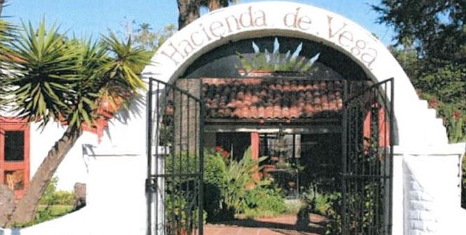 The house was most recently known as Hacienda de Vega restaurant