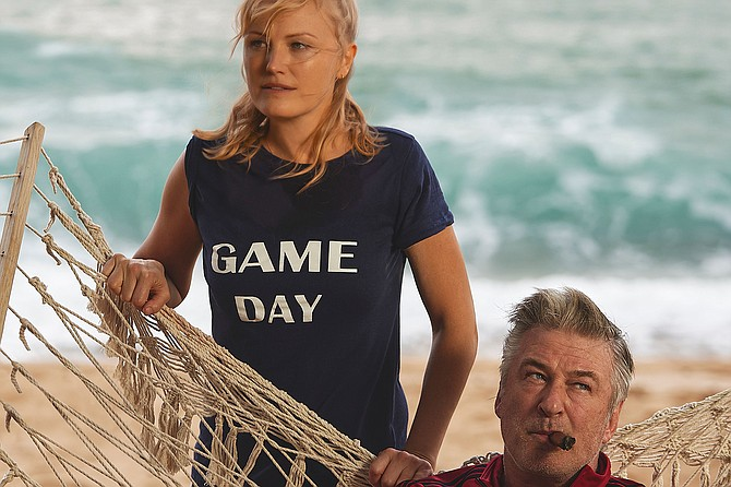 Chick Fight: Malin Akerman and Alec Baldwin punch things up.