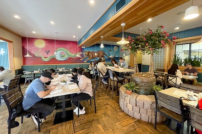 The indoor dining room at Cocina de Barrio — will indoor dining close this week?