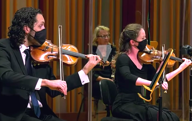 Fortunately you can watch the symphony concert on YouTube.