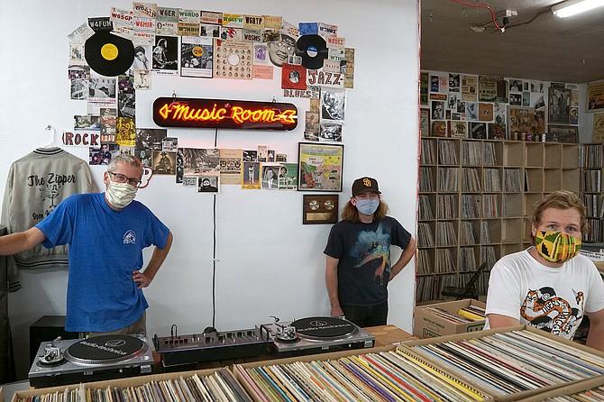 Brendan Boyle (blue shirt) has been pushing vinyl for a quarter century.