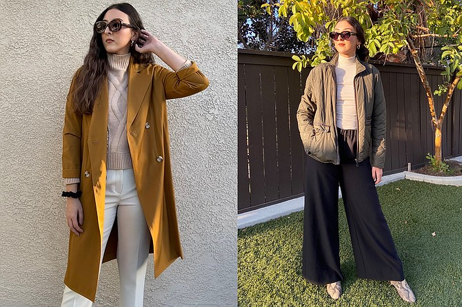 Left: The Staple: Mustard Trenchcoat; Right: The Boyfriend's Jacket is from Zara