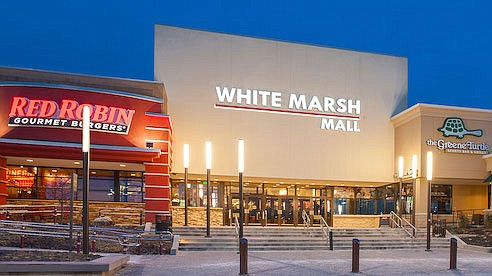 Rents have been plunging at White Marsh Mall, the biggest shopping center in Baltimore.
